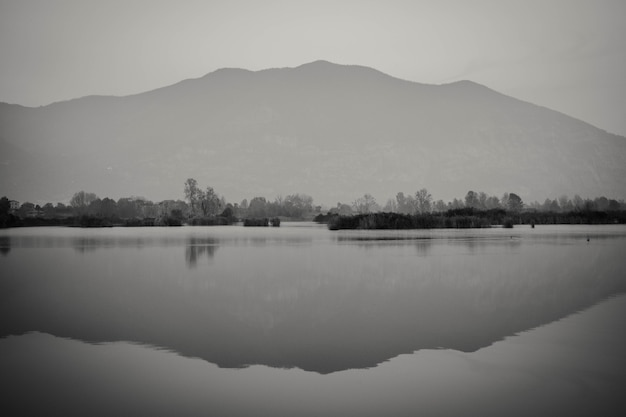 View on the torbiere of iseo lake