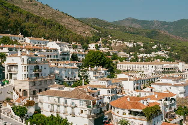 View of the town of mijas in the province of malaga
