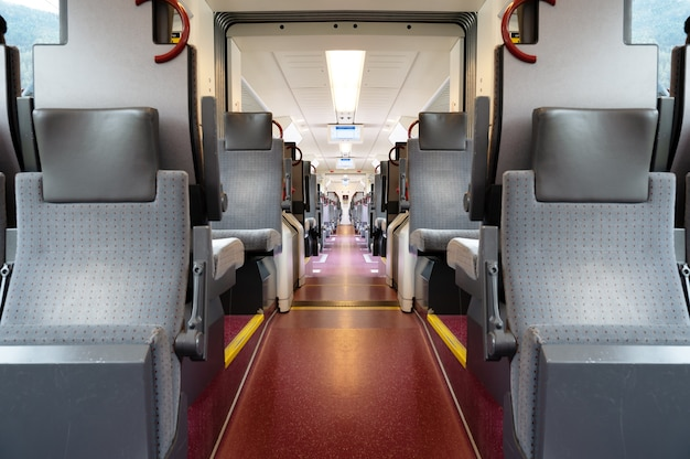 A view of a train cab from the inside