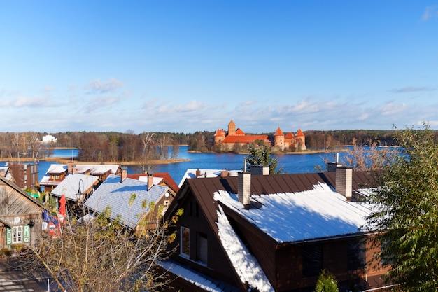 View over the trakai castle