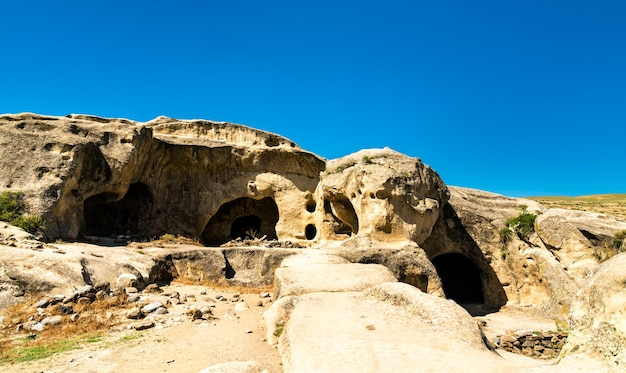 View of uplistsikhe, an ancient rockhewn town in georgia