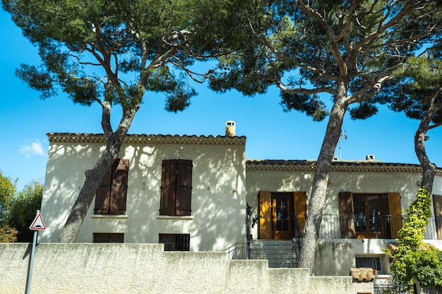 View of the villa in cassis in provence, france
