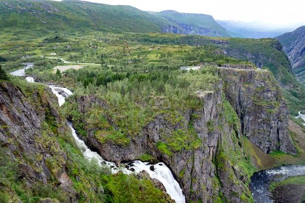 View on voringfossen waterfall in norway