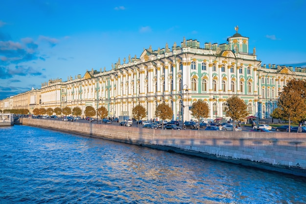 View of the winter palace in autumn