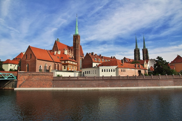 The view on wroclaw city, poland