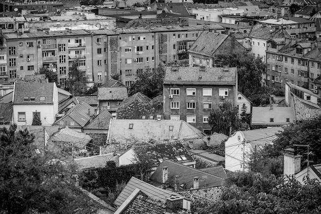 View of zemun rooftops. belgrade. republic of serbia