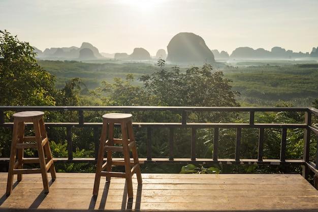 Viewpoint to see mountain at sunrise, din daeng doi, krabi