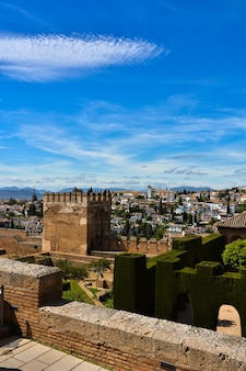 Views of the landscape surrounding the alhambra of granada.