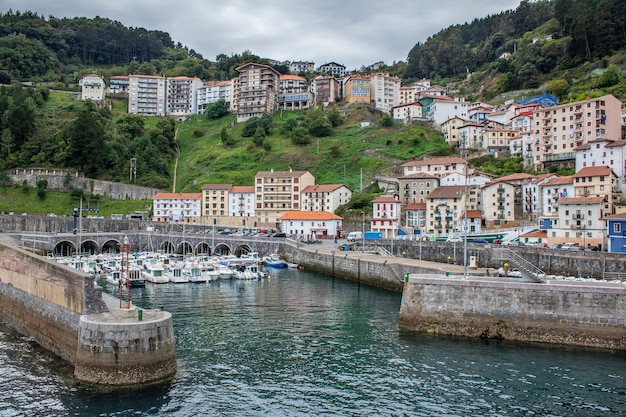 Views of the litle village of basque country.