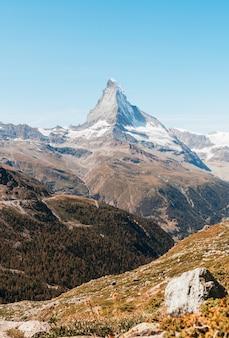 체르마트, 스위스에서 마 테 호른 피크의 전망.