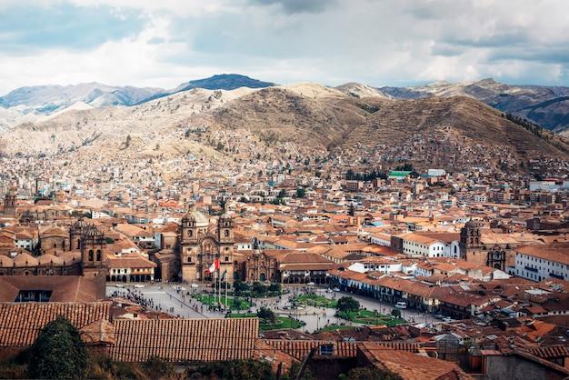 Views of the plaza de armas in cuzco