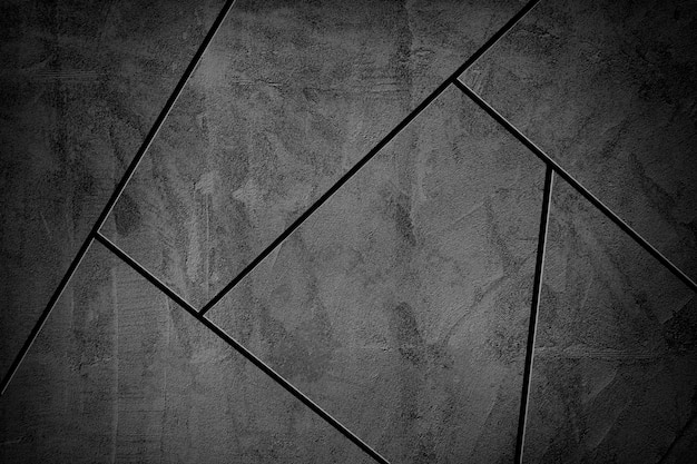 Fondo strutturato delle mattonelle di mosaico grigio scuro di vignetta
