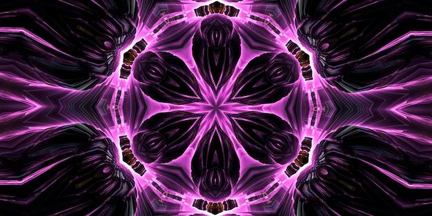 バイキングの抽象化。森の精。抽象ペイントブラシインク爆発スプレッドスムーズコンセプト対称パターン装飾装飾万華鏡の動き幾何学的形状。