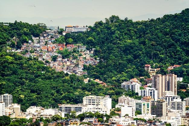 ブラジル、リオデジャネイロのvila pereira da silva favela