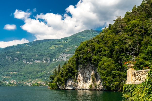 Вилла бальбьянелло на берегу озера комо, италия