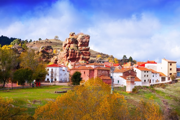 Village at alto tajo in autumn