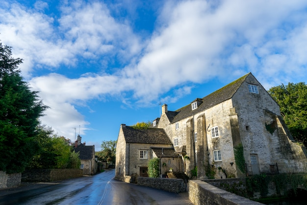 The village of bibury, cotswolds, arlington row england