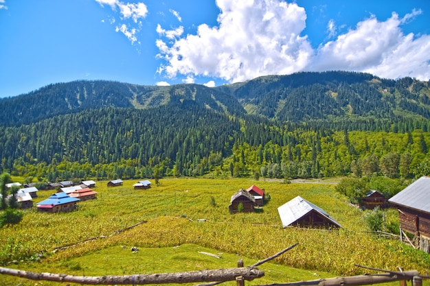 Деревня в красивой долине