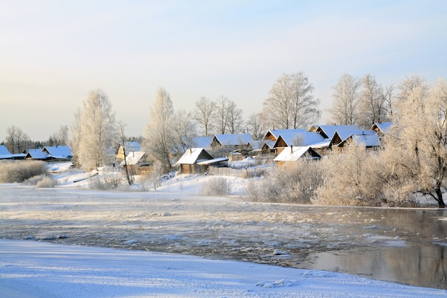 Village is on coast to freeze river