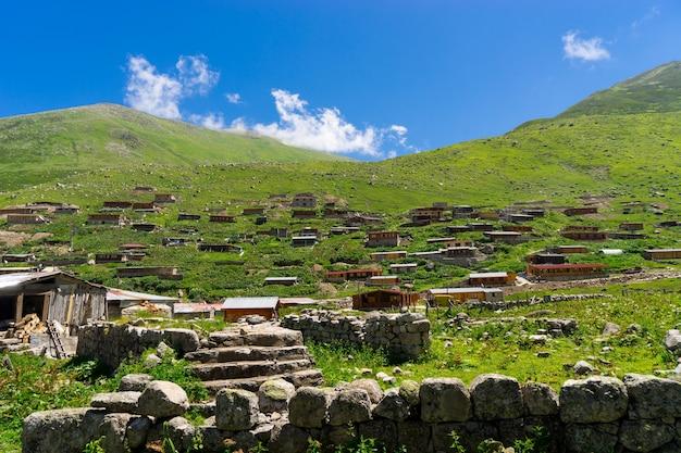 Village of kavron on plateau, rize - turkey