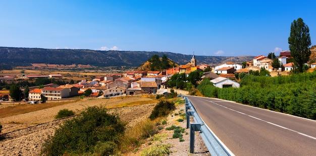Village in summer day.  frias de albarracin