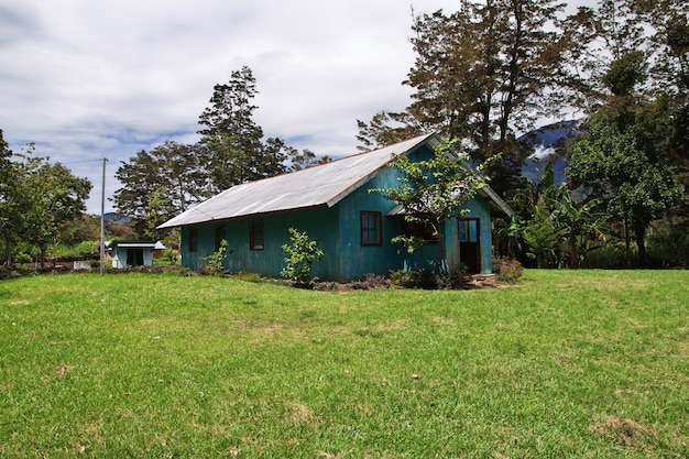 The village in valley of wamena, papua, indonesia