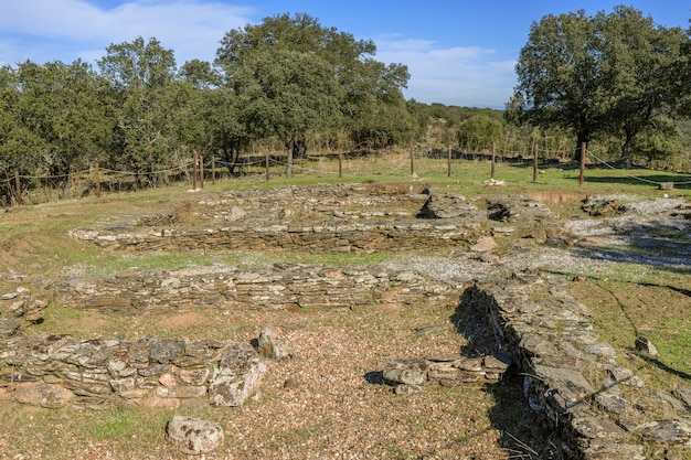 Villasviejas del tamuja 스페인 extremadura의 botija 근처 고고학 유적지