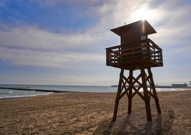 Vinaroz playa del forti beach in castellon