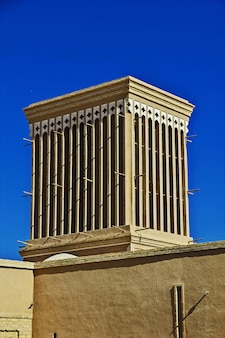 The vinatge building in ancient city yazd iran