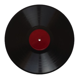 Vintage 78 rpm record isolated