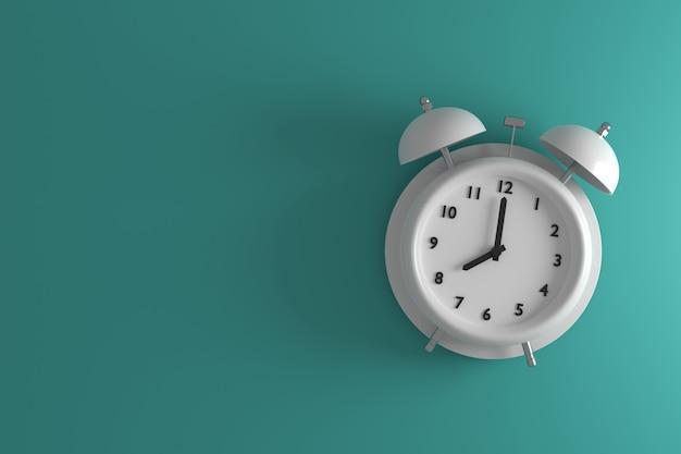 빈티지 알람 시계. 3d 배경 디자인. 3d 렌더링.