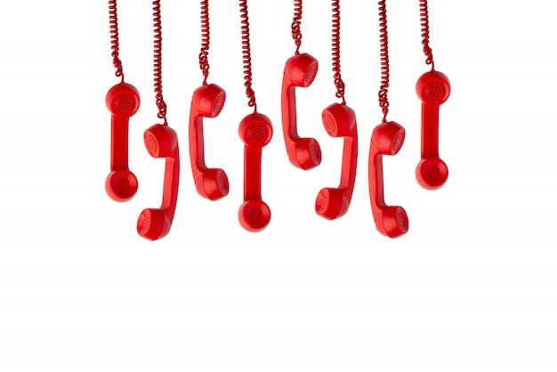 分離されたヴィンテージとレトロな電話