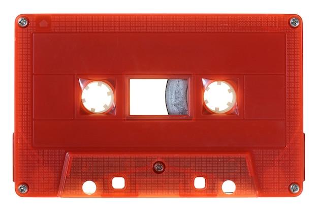 Vintage audio tape isolated on white