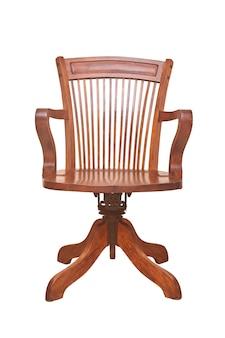 Старинный стул банкира, изолированные на белом фоне