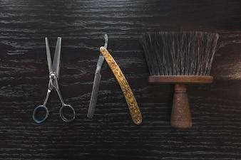 Vintage barber tools