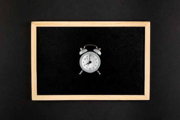 Vintage beautiful clock on black background