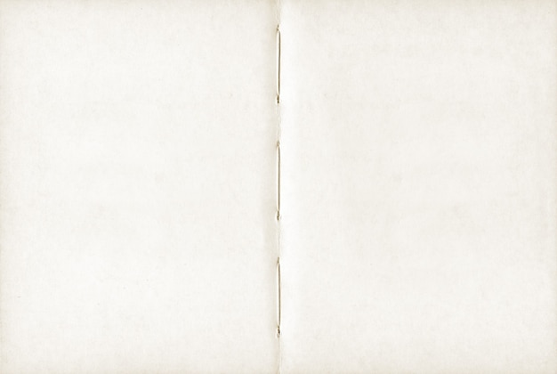 Винтажная пустая открытая тетрадь. фоновая текстура