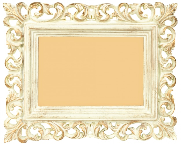 Vintage blank photo frame isolated