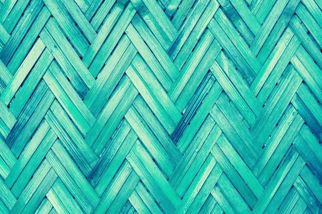 Винтаж синий цвет бамбукового плетения узор фона дизайна