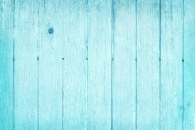 Vintage blue pastel painted wooden wall texture background.