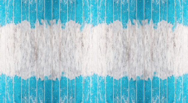 Vintage blue and white color painted wood wall