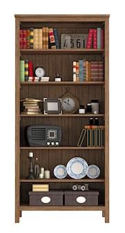 Винтажный книжный шкаф