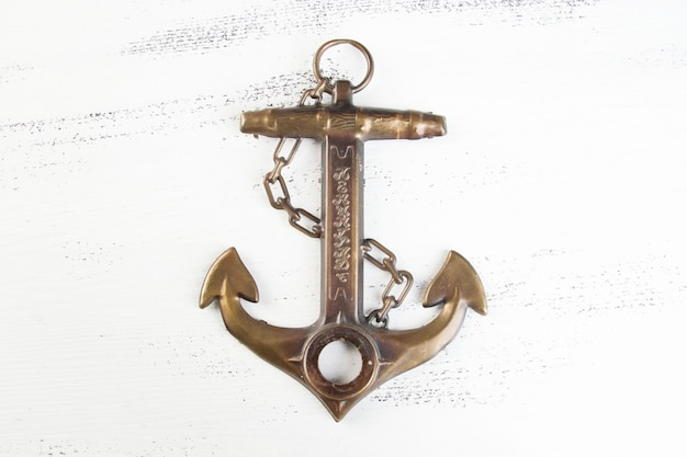 Vintage brass anchor