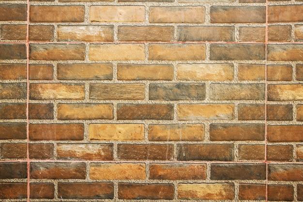 울타리 배경으로 빈티지 벽돌 벽입니다.