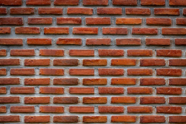 Vintage brown brick wall texture for background