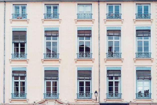 Vintage building facade wal