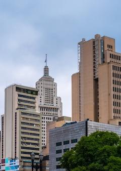 Vintage buildings in sao paulo downtown .