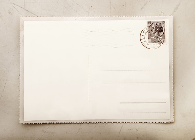 Vintage card with blank space to write