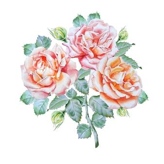 Винтажная открытка с розами