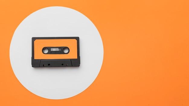 Vintage cassette tape copy space